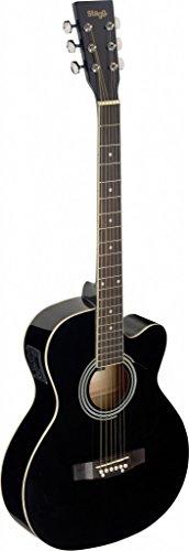 Stagg SA20ACE BLK Auditorium Cutaway Acoustic-Electric Guitar - Black