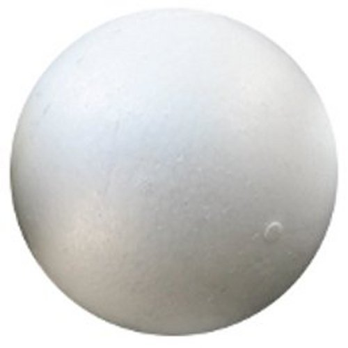 Smooth Molded Foam Ball - 5 Inch Diameter White EPS Sphere by Shape Innovation, Inc.