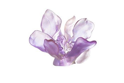 Daum Crystal Imaginary Garden Flower Sculpture in Violet-Pink #05414 ()