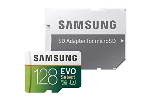 Samsung 128GB 100MB/s (U3) MicroSD EVO Select Memory Card with Adapter (MB-ME128GA/AM) (Certified Refurbished)