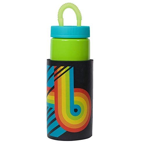 COOL GEAR 32oz Retro Water Bottle with Bendy Straw