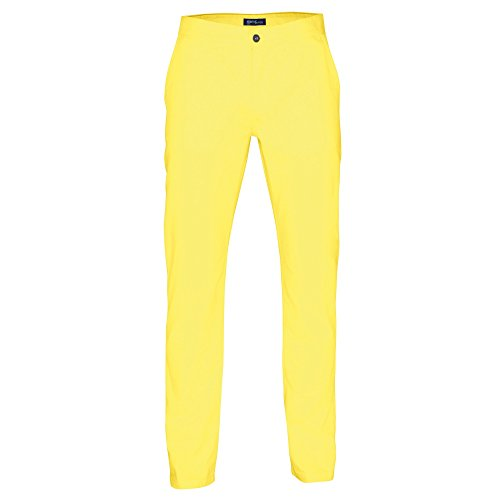 Asquith & Fox Mens Classic Casual Chino Pants/Trousers (SR) (Lemon Zest) (Yellow Pants Men)