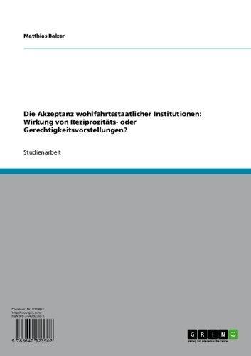 Wohlfahrtsstaatlichkeit im Vergleich (German Edition)