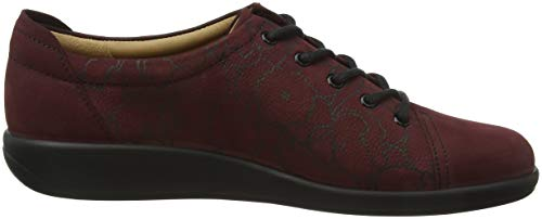 à Rouge Hotter Maroon 159 Femme Dew Chaussures Lacets Print ZqHxXwEH
