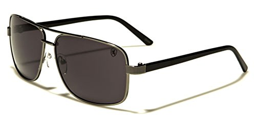 Square Retro 80s Aviator Sunglasses Men's Women's Metal Fashion Glasses Black Gold Silver - Cheap Sunglasses Best