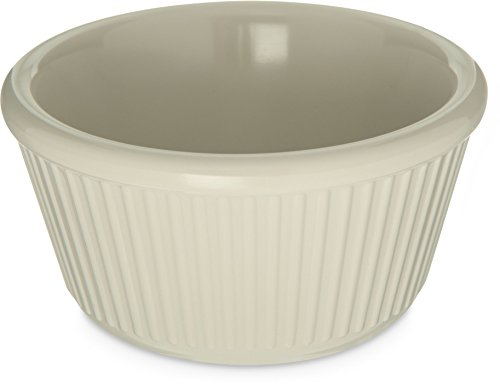 - Carlisle S28742 Melamine Fluted Ramekin, 4 oz. Capacity, Bone (Case of 48)