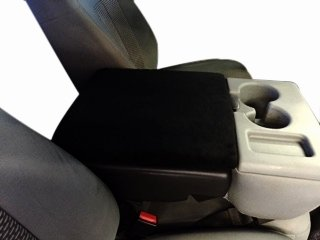 Auto Console Covers - Center Armrest Cover - Compatible with Ford F150 Trucks 2002-2019 - Waterproof Neoprene, Black