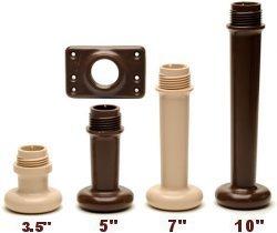 SleepLikeABear Universal Bedlegs 7'' 2Pc Plastic Screw-In Legs Set of 9, Sand