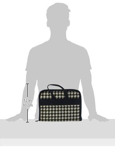 Bluefig 40653 Designer Series Notions Bag-Ebony - Black Houndstooth