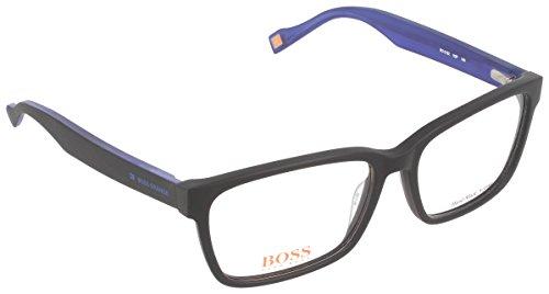BOSS ORANGE Eyeglasses 0182 0K0p Black Blue 55MM (182 Eyeglasses)