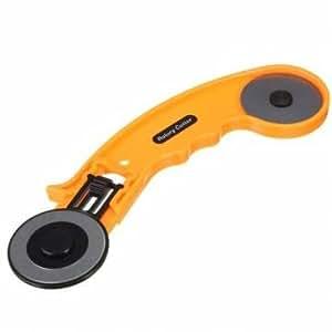 45mm cortador rotativo herramienta de artesanía en cuero de corte de tejido circular con hoja de repuesto