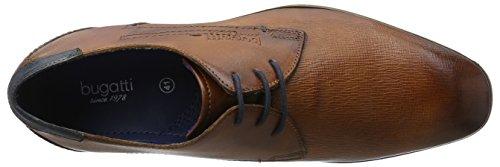 Para De Hombre Derby Marrón Cordones Bugatti cognac Zapatos 312101082100 EqwFxX6