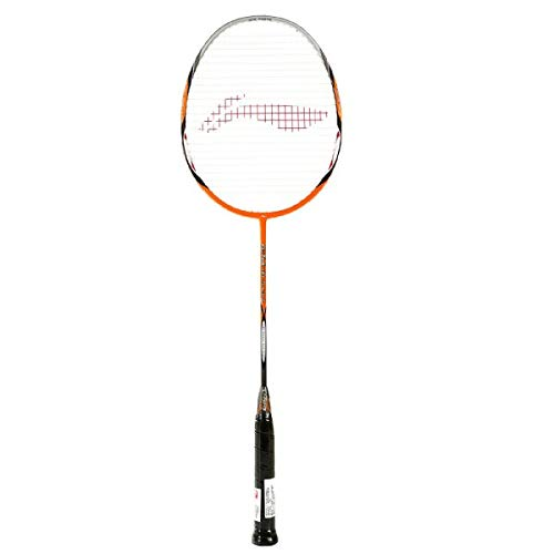 LI-NING Badminton Racket G-Tek Series Player Edition Light Weight Carbon Graphite Shaft 80+ GMS with Full Carrying Bag Cover (80 Muscle II)