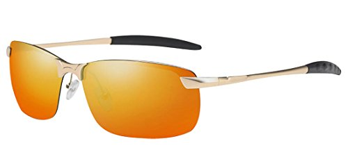 Metal gold ultraviolet HD JYR Sunglasses Fashion Tide Men Sunglasses Polaroid Driving anti Sunglasses Cool vIIwrOq5x