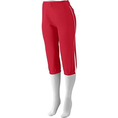 Augusta Sportswear Girls 'ドライブLow Riseソフトボールパンツ B00GK5TWCG M|レッド/ホワイト レッド/ホワイト M