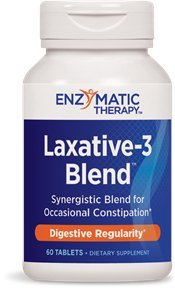 Therapy Laxative (Enzymatic Therapy Laxative-3 Blend 60 Tablets (Pack of 2))