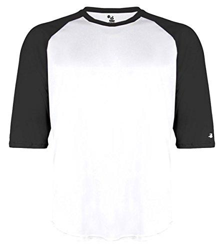 White Undershirt Baseball (Badger BD4133 Baseball Undershirt, White And Black - Large)