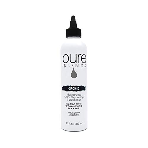 Pure Blends Hydrating Color Depositing Conditioner, Orchid, Depth Of Dark Brown To Black, 8.5 oz. ()