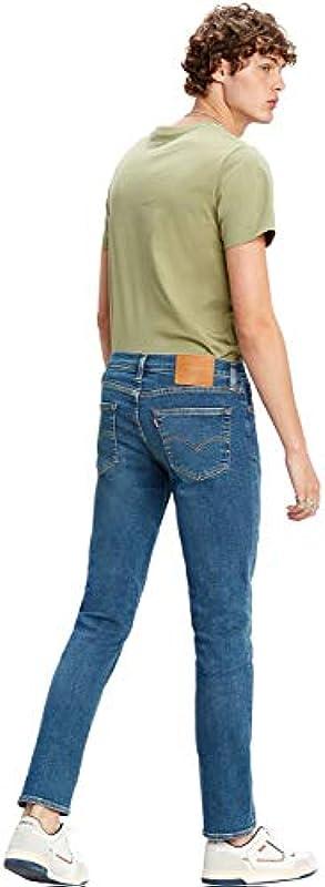 Levi's męskie jeansy typu Slim Taper Tapered Fit 512, kolor: niebieski , rozmiar: 36W / 30L: Odzież