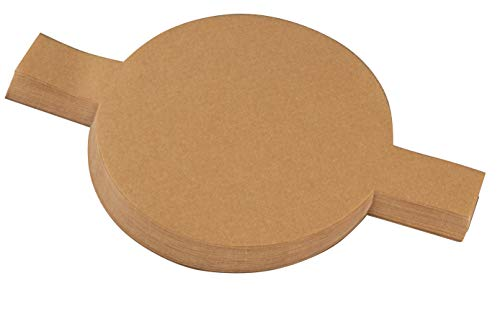 ds - 100-Count 9 Inch Parchment Rounds, Round Parchment Paper for Baking, Precut Unbleached Circle Cake Pan Liners with Easy Lift Tabs, Non-Stick, Brown ()