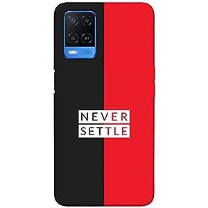 SharpEseller Never Settle Black Red Printed Soft Designer Mobile Back Cover for Oppo A54 5G