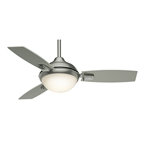 Casablanca Indoor/Outdoor Ceiling Fan with LED Light and remote control - Verse 44 inch, Satin Nickel, 59155