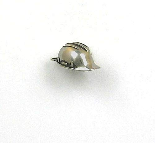 Sterling Silver 3-D Hard Hat Charm