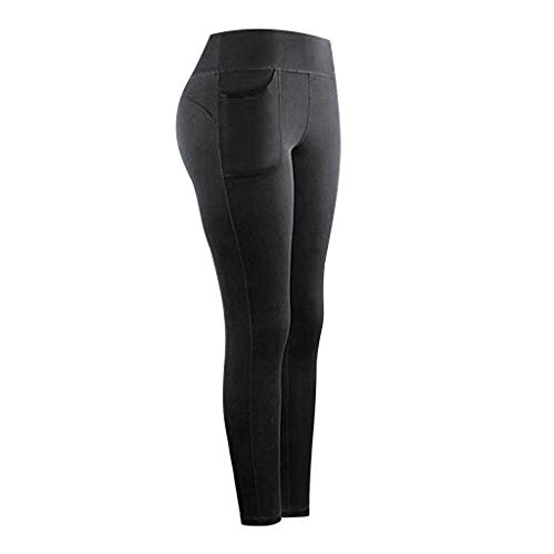 MOMKER Women's High Waist Yoga Pants with Pockets Quick-Dry Sports Fitness Tummy Compression Leggings