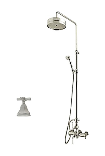 Rohl AKIT48173XMSTN Kit Palladian Exposed Thermostatic Shower Package with Palladian Cross Handle - includes A4817XM 1560 1105/8 and 1037/8, Satin Nickel ()
