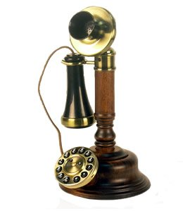 Golden Eagle GEE805 Wood Candlestick Phone, Office Central
