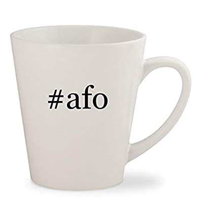 #afo - White Hashtag 12oz Ceramic Latte Mug Cup