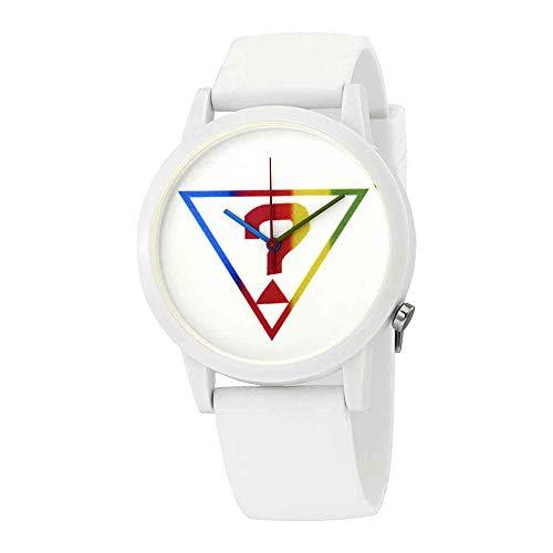 Guess Originals White Logo Quartz White Dial Ladies Watch V1024M1