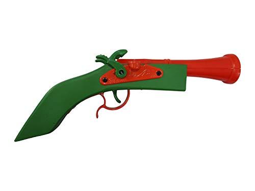 Blunderbuss Toy Gun Cap Wood Pirate Pistol Green Orange Handle Disney Accessory
