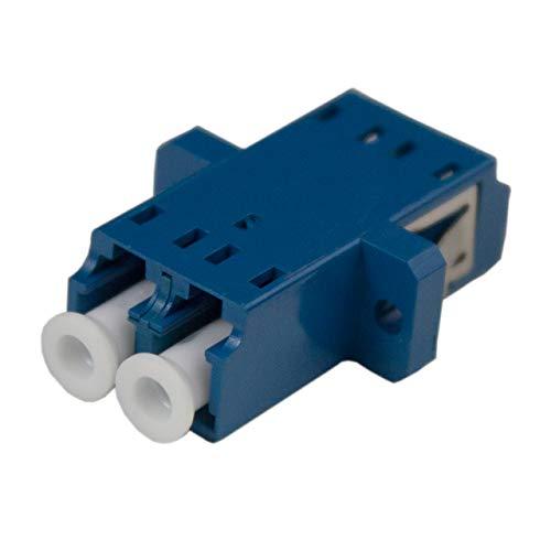 Singlemode Duplex Ceramic - LC Fiber Optic Adapter | Duplex | Ceramic | Singlemode | 10 Pack | Jibeworks
