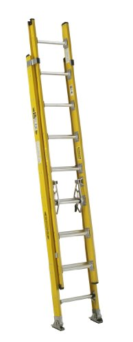 Werner D7116-2 375-Pound Duty Rating Fiberglass Round Rung Extension Ladder, 16-Foot by Werner