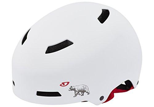 Giro Herren Fahrradhelm Quarter, Mat Wht Ca Bear, 59-61 cm, 7055672