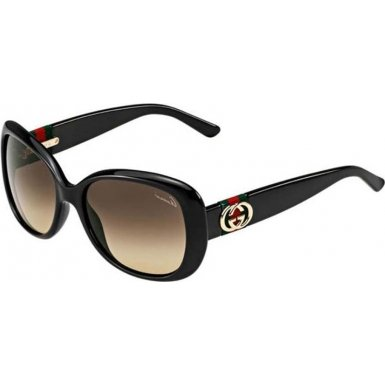 Gucci Sunglasses - 3644 / Frame: Shiny Black Lens: Brown Gradient