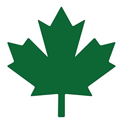 Lucidchaos Graphics Maple Leaf Decal Sticker - Size:3.0 x 3.0 inches - Color:Kelly Green: Automotive