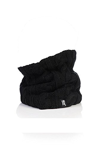 Heat Holders - Women's Thermal Winter Neck Warmer Gaitor - 3.5 Tog - One Size (Black)