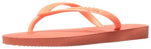 Havaianas Girls' Slim Sandal Flip Flop, Orange Cyber, 25/26 BR/10 M US - Orange Havaianas