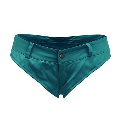 Sexy Hot Pants Women Fashion Nightclub Plus Size Trousers Thong Casual Shorts Green