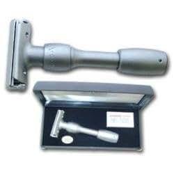 Merkur Vision - Maquinilla de afeitar tradicional de doble filo ajustable (incluye caja de metal)