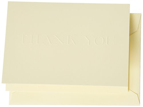 Crane & Co. Blind Embossed Thank You Note (CT1417) Blind Embossed