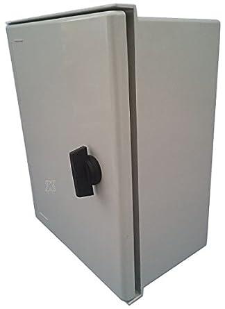 Kunststoff Polyester Schaltschrank IP66 hellgrau GFK-verst/ärkt 300x250x140 mm mit Sichtt/ür