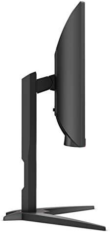 AOC CQ27G1 27″ Curved Frameless Gaming Monitor QHD/2K, 1ms, 144Hz, FreeSync, DisplayPort/HDMI/VGA, Height adjustable, 3-Year Zero-Bright Dot, Black/Red 31EqNqCdk L