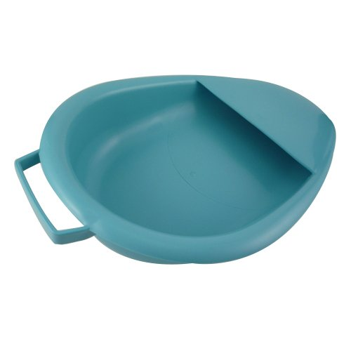 Medegen Medical Products 00083 Bedpans, 2.5 L Capacity, 17'' x 10.6'' x 4.1'' x 0.9'', Large, Blue (Pack of 6) by Medegen Medical