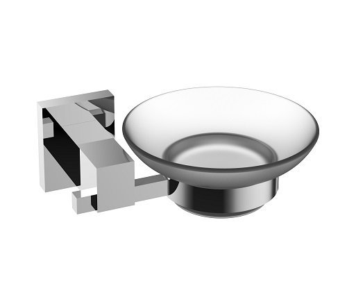 Eviva Evac1070Bn Panera Frosted Glass Soap Dish, Holds As A Wall Mount (Brushed Nickel), Bathroom Soap Holders Combination by Eviva