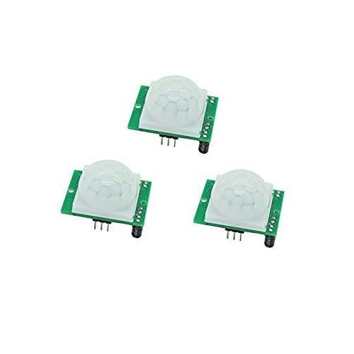 Neuftech 3pcs HC-SR501 PIR M/ódulo de Sensor de Motion por Infrarrojos Cuerpo Piroelectricidad para Arduino Raspberry Pi