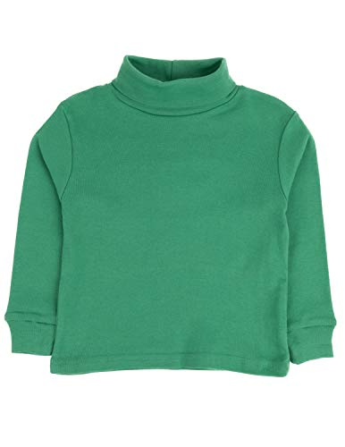Leveret Solid Turtleneck 100% Cotton (10 Years, Green) (Green Kids Sweater)
