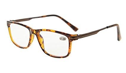 Eyekepper TR90 marco de metal de primavera brazos NoLine progresivo bifocal gafas de enfoque 3 niveles visión lectura gafas anti deslumbramiento ...